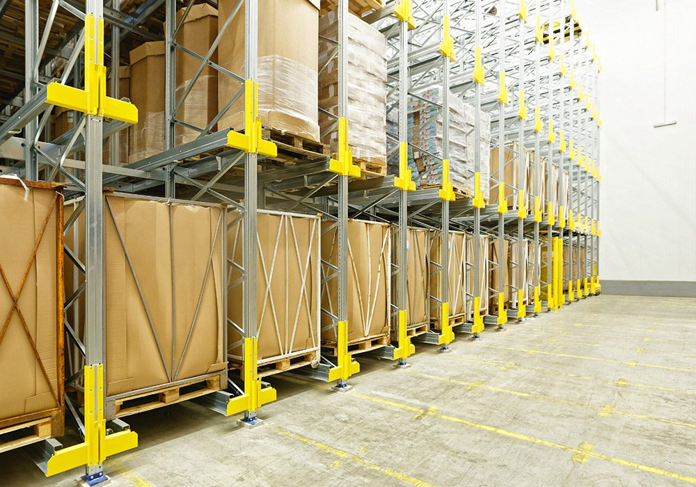 Shelving System in Cold Distribution Warehouse